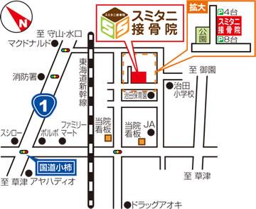 スミタニ接骨院へのアクセスマップ